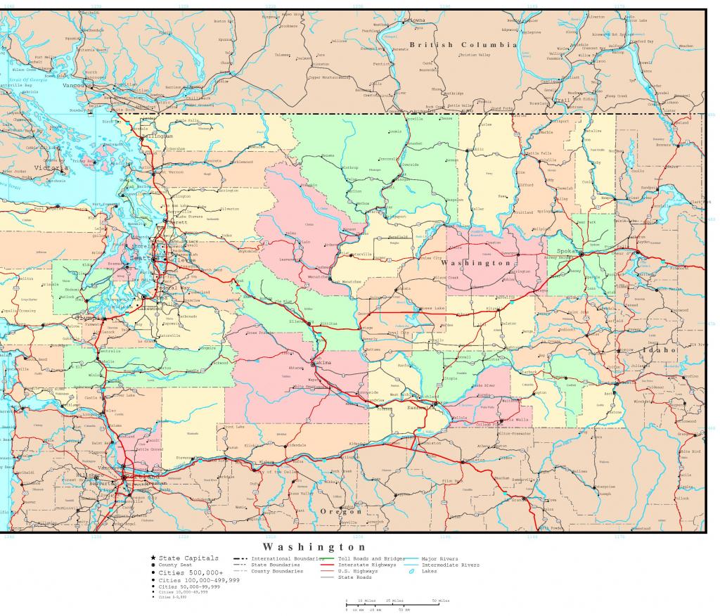 Washington Political Map inside Printable Map Of Washington State