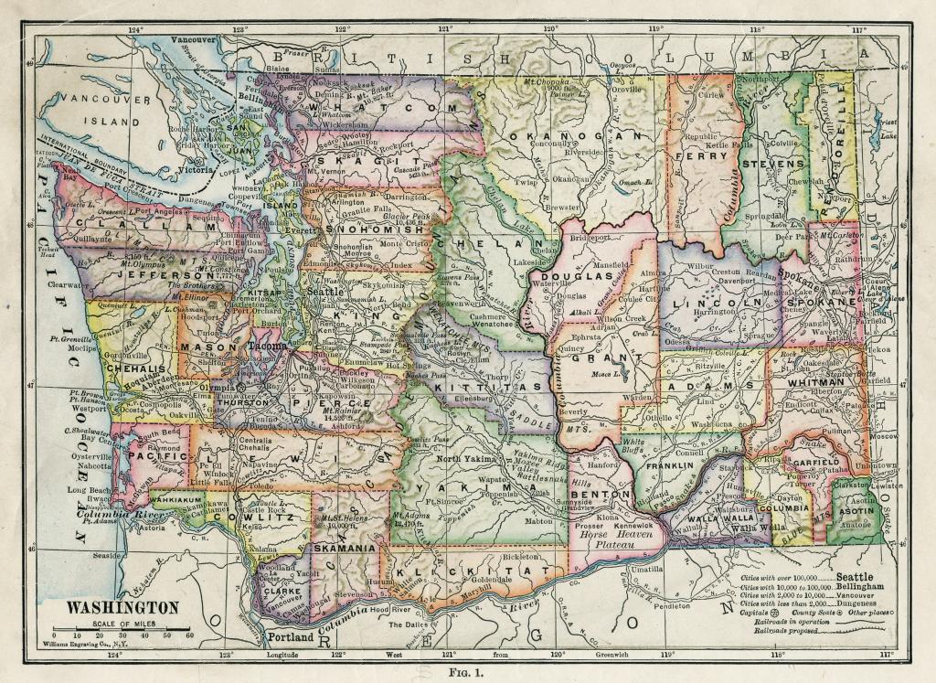 Washington State County Maps #243118 for Washington State Counties Map Printable