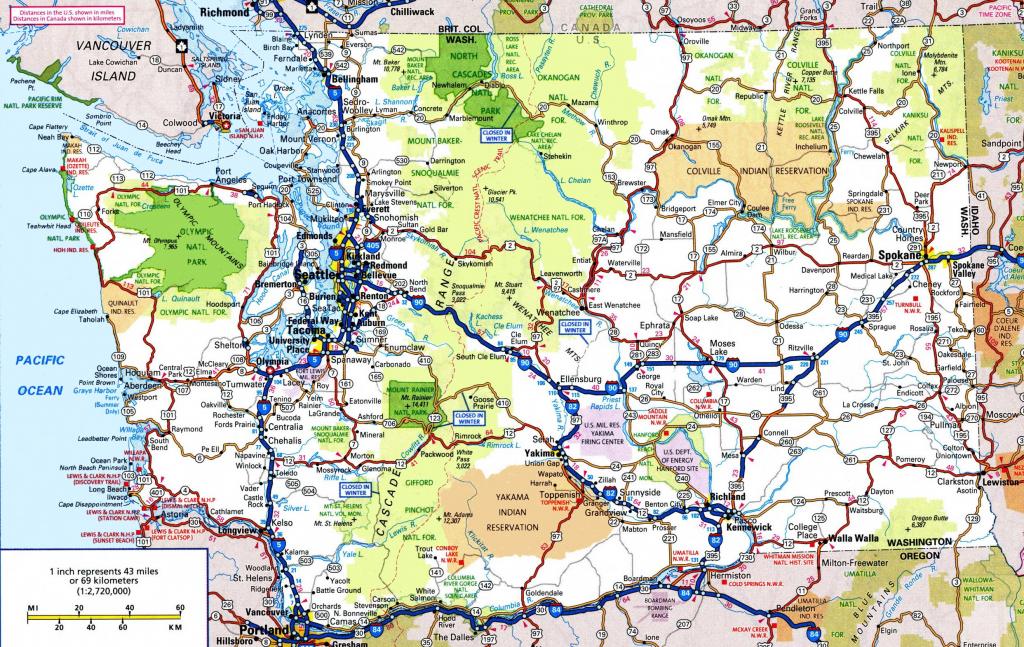 Washington State Maps | Usa | Maps Of Washington (Wa) pertaining to Washington State Counties Map Printable