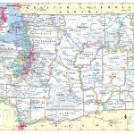 Washington State Wall Map Large Print Poster | Etsy With Printable Map Of Washington State