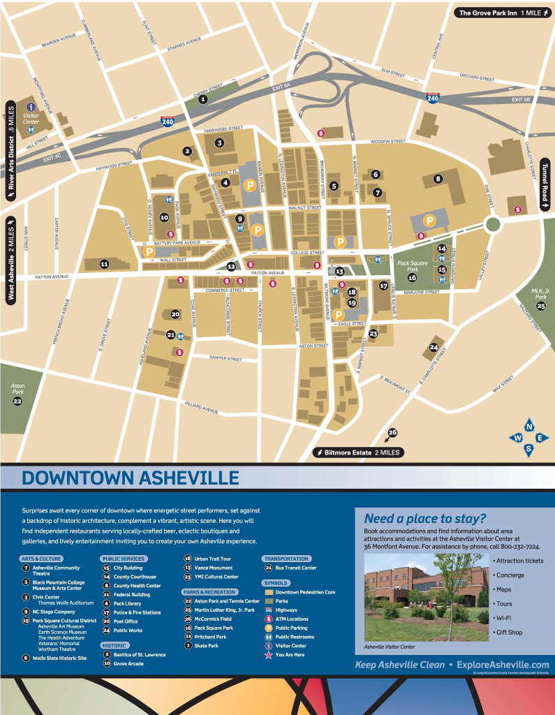 Wayfinding Downtown Map_Thumbnail | Asheville, Nc | Downtown pertaining to Printable Map Of Downtown Asheville Nc