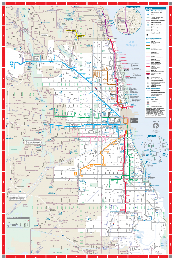 Web-Based System Map - Cta with Printable Map Of Downtown Chicago