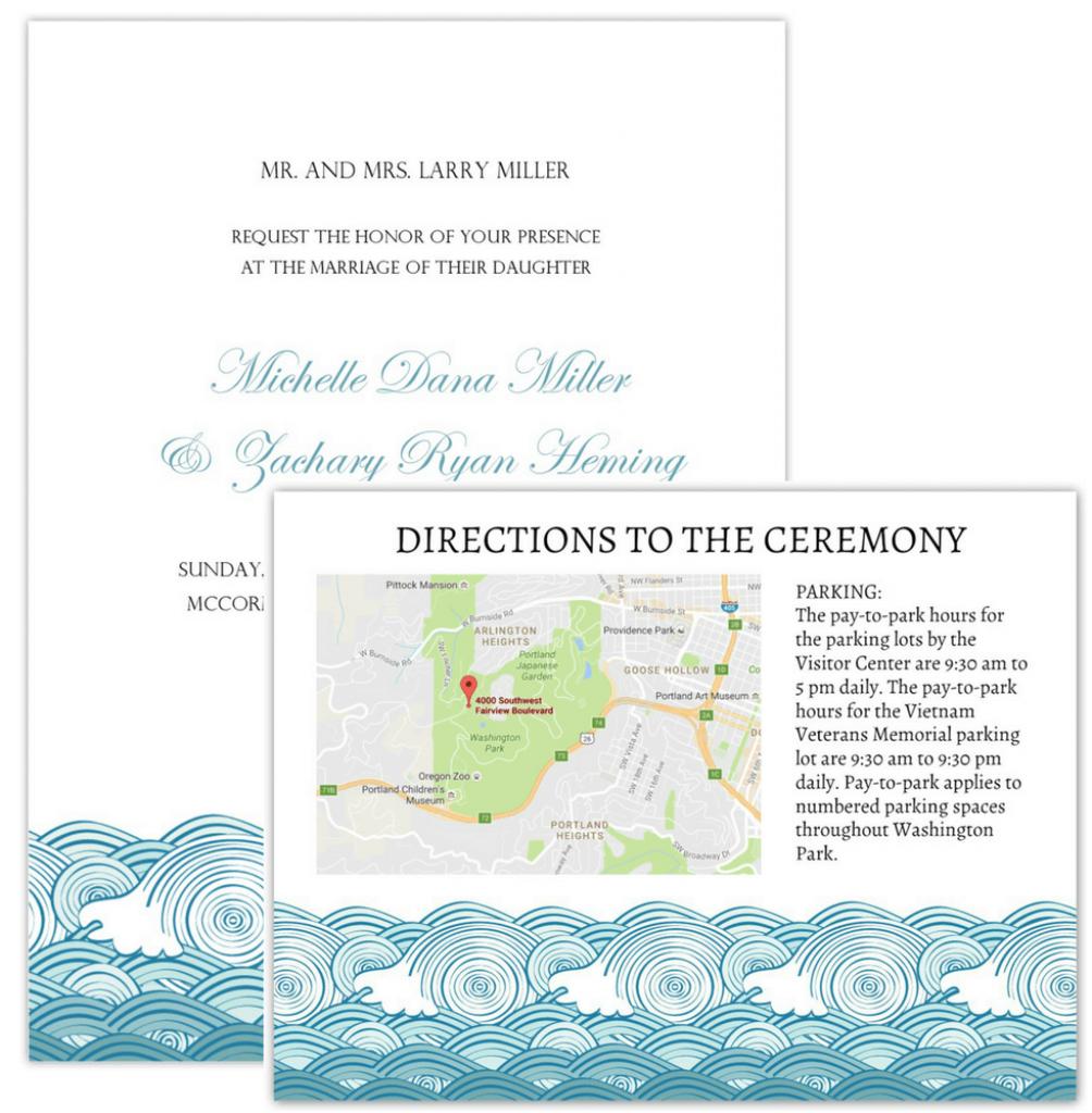 Wedding Invitation Maps regarding Maps For Invitations Free Printable