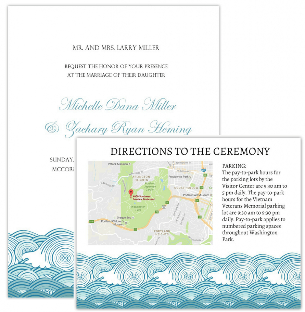 Wedding Invitation Maps with regard to Free Printable Wedding Maps
