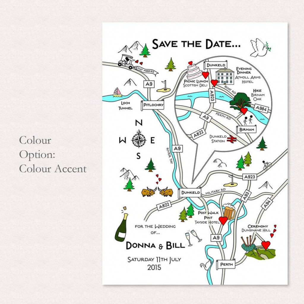 Wedding Or Party Illustrated Map Invitation | Wedding | Map pertaining to Printable Maps For Invitations