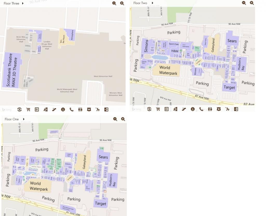 West Edmonton Mall In Edmonton, Alberta - 538 Stores, Hours with Printable West Edmonton Mall Map