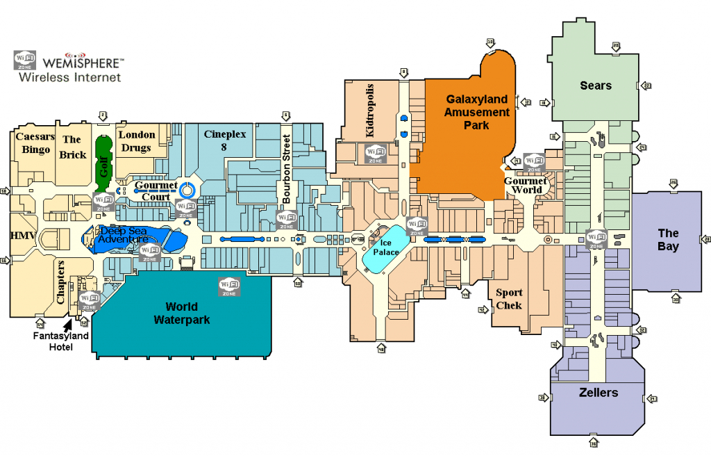 West Edmonton Mall Map From Mallxplorer 1 - Civinate pertaining to Printable West Edmonton Mall Map