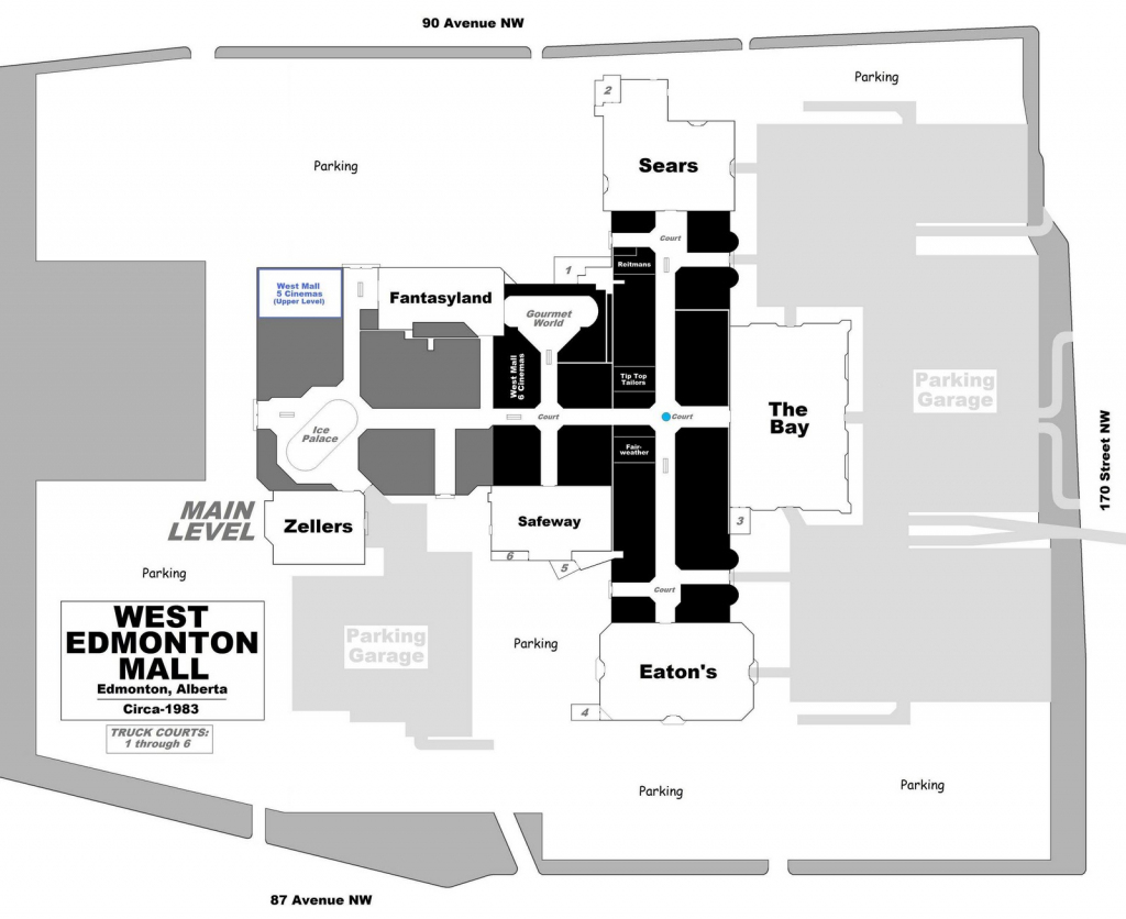 West Edmonton Mall | Renovations - Page 49 intended for Printable West Edmonton Mall Map