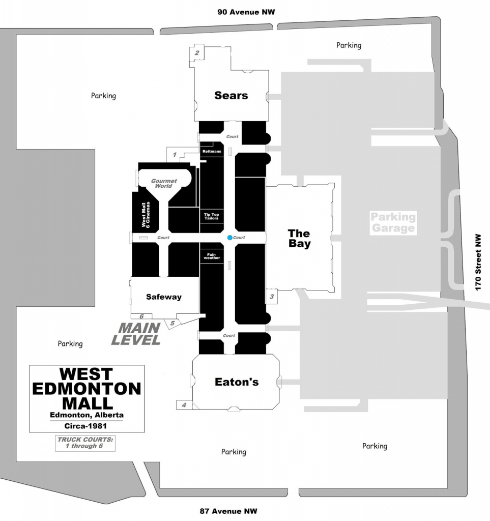 West Edmonton Mall | Renovations - Page 49 with West Edmonton Mall Map Printable