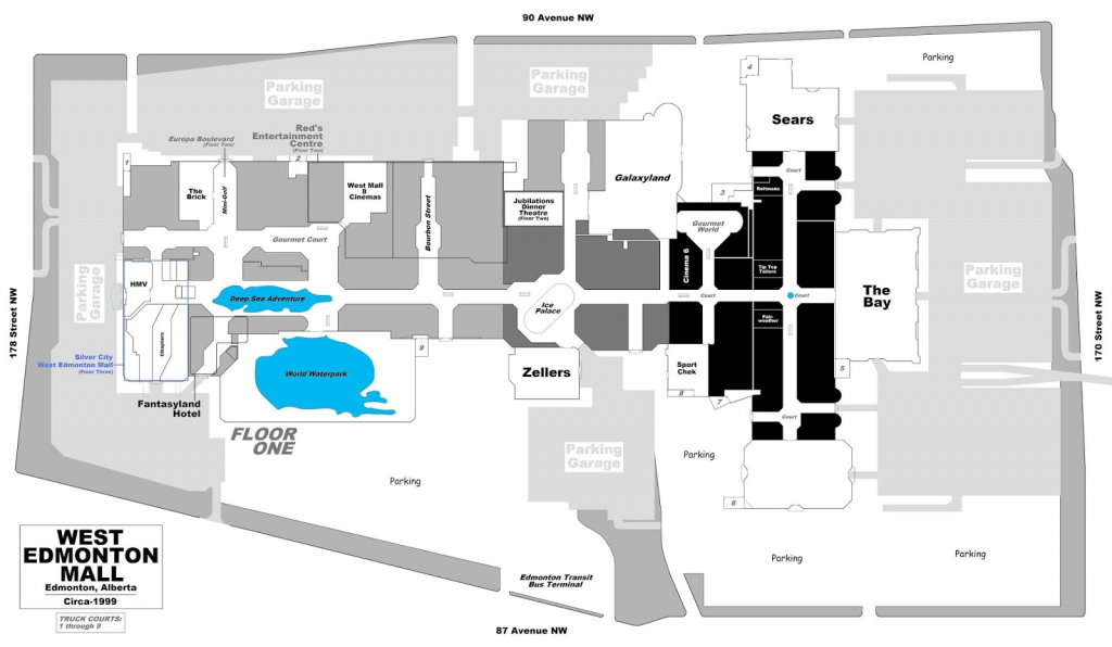 West Edmonton Mall | Renovations - Page 49 within West Edmonton Mall Map Printable