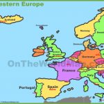 Western Europe Map Throughout Printable Map Of Western Europe