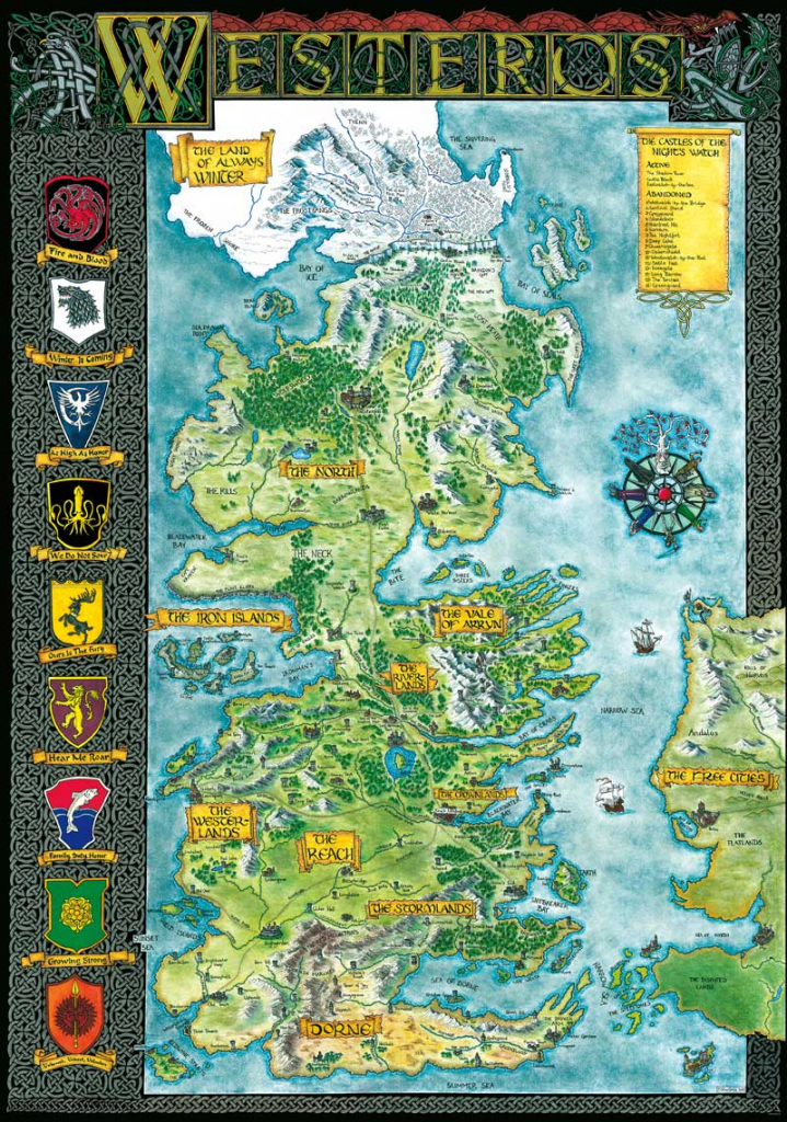 Westeros | Klaradox for Printable Map Of Westeros