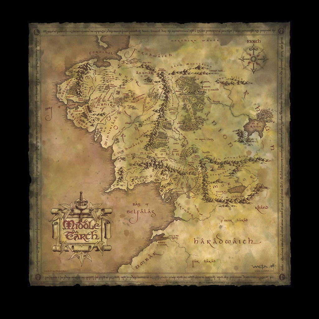 Weta Workshop with regard to Printable Map Of Middle Earth