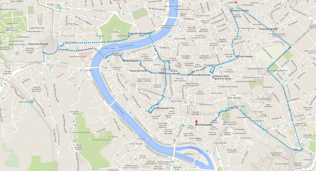 What To Do When Only One Day In Rome | Walking Map - World Wanderista inside Printable Walking Map Of Rome