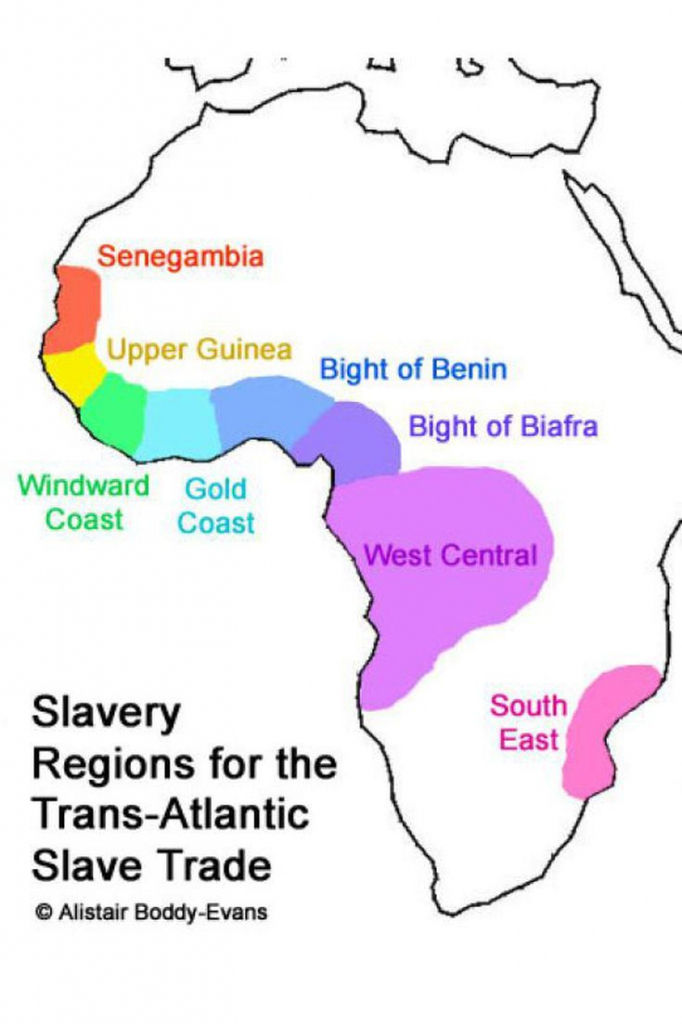 What Was The Trans-Atlantic Slave Trade? | Slavery | Black History throughout Triangular Trade Map Printable