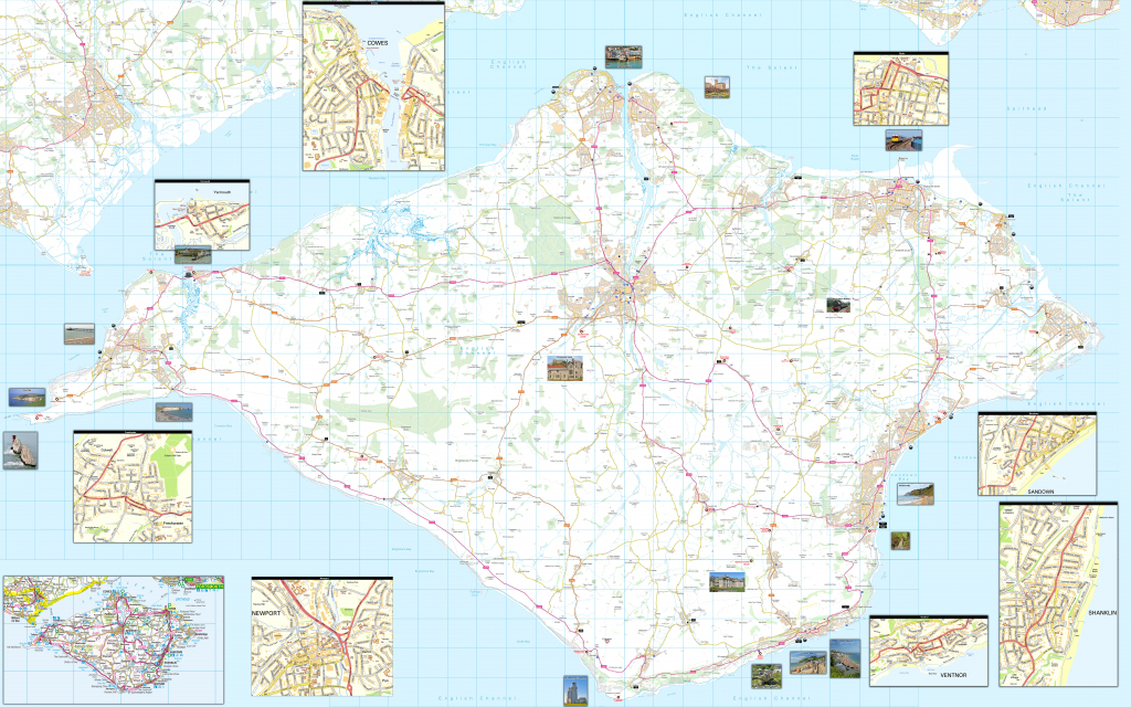 Where Is The Isle Of Wight? Free Map, Including Cowes, Ryde, Newport with Printable Map Of Isle Of Wight
