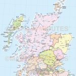 Wildlife Map Of Scotland Printkate Mclelland Shop   Printable Map Of With Regard To Printable Road Map Of Scotland