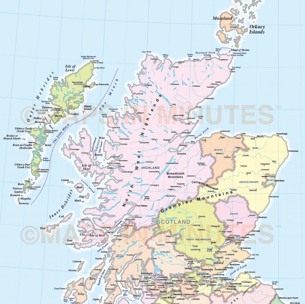 Wildlife Map Of Scotland Printkate Mclelland Shop - Printable Map Of with regard to Printable Road Map Of Scotland