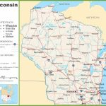 Wisconsin Highway Map Throughout Printable Map Of Wisconsin