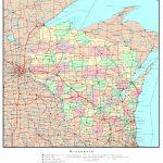 Wisconsin Political Map Regarding Printable Map Of Wisconsin