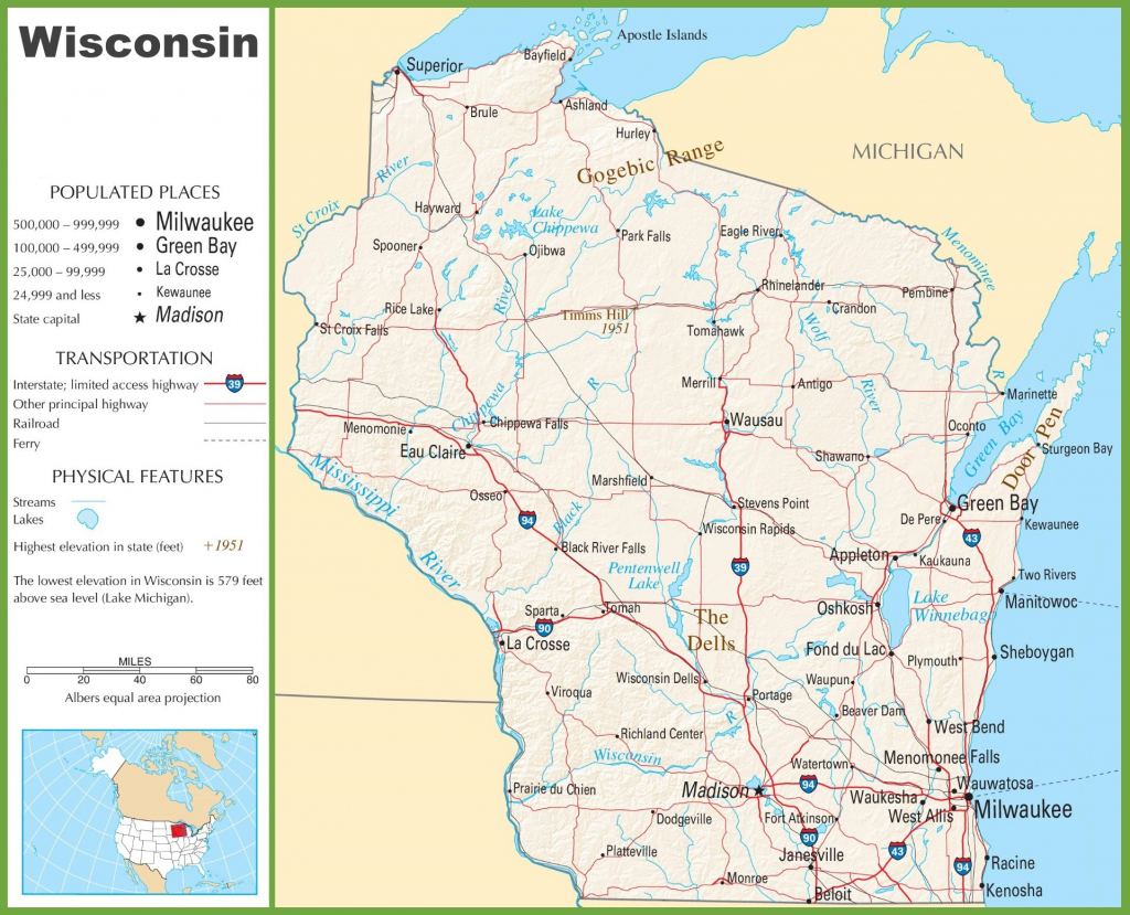Wisconsin Road Map Printable Maps Wisconsin Interstate Map 18 with Wisconsin Road Map Printable