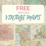 Wonderful Free Printable Vintage Maps To Download | Papercrafts Intended For Printable Antique Maps Free