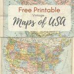 Wonderful Free Printable Vintage Maps To Download   Pillar Box Blue For Free Printable Maps
