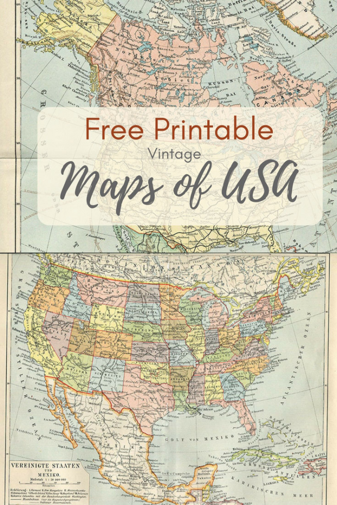 Wonderful Free Printable Vintage Maps To Download - Pillar Box Blue pertaining to Vintage Map Printable