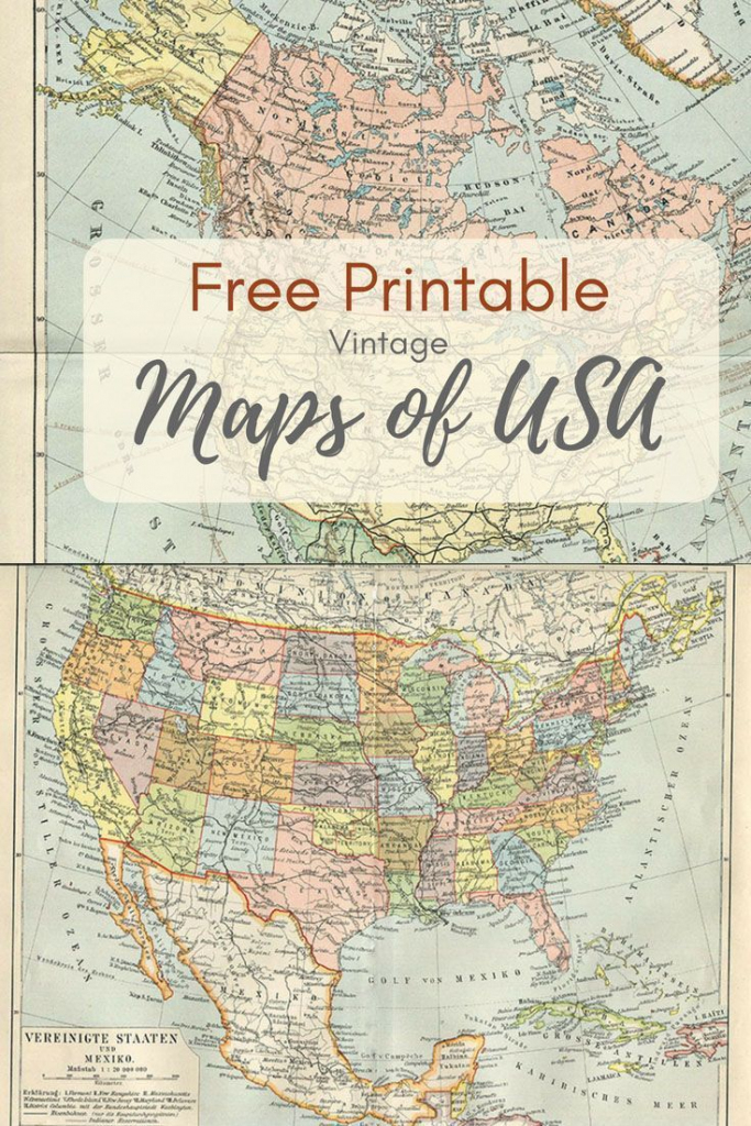 Wonderful Free Printable Vintage Maps To Download | Printables | Map with Free Printable Vintage Maps