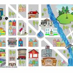 Worksheet : Prepositions Of Place Free Esl Worksheets Clipart Throughout Community Map For Kids Printable