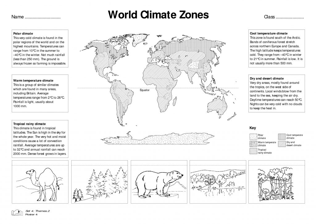 World Climate Zones For Kids Worksheets   Google Search ...
