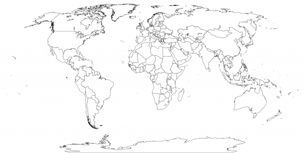 World Map Black And White Worksheet On With Country Names Printable throughout World Map Printable With Country Names