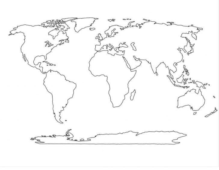 Printable Blank World Map With Countries