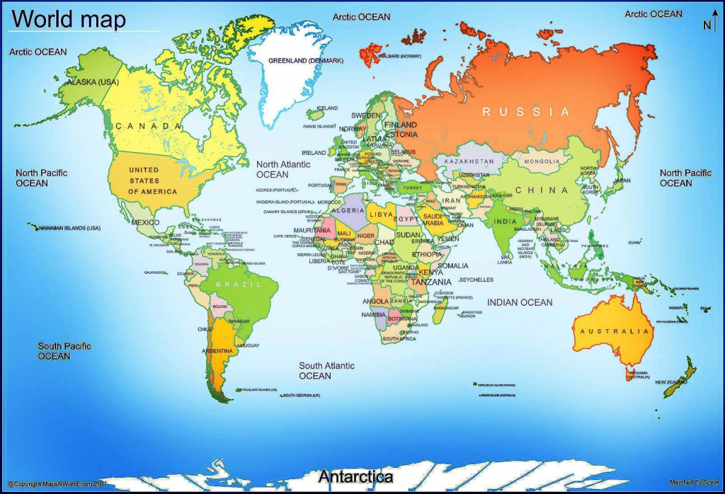 World Map - Free Large Images | Maps | World Map With Countries pertaining to Large Printable World Map