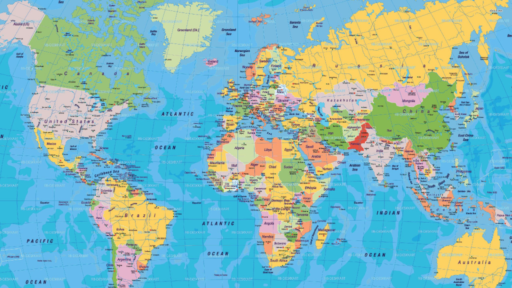 World Map - Free Large Images | Places With A View In 2019 | World within Free Printable World Map Poster