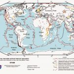 World Map Of Fault Lines And Tectonic Plates. Earthquake Map Intended For World Map Tectonic Plates Printable