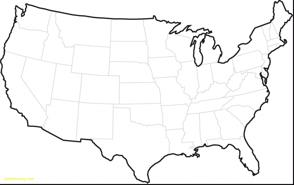 World Map Of Us And Canada World Map United States Beautiful Blank regarding Printable Blank Map Of The United States
