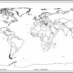 World Map Outline With Countries | World Map | World Map Outline Inside World Map Test Printable