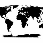 World Map Stencil | Educational | World Map Template, Global Map Intended For World Map Stencil Printable