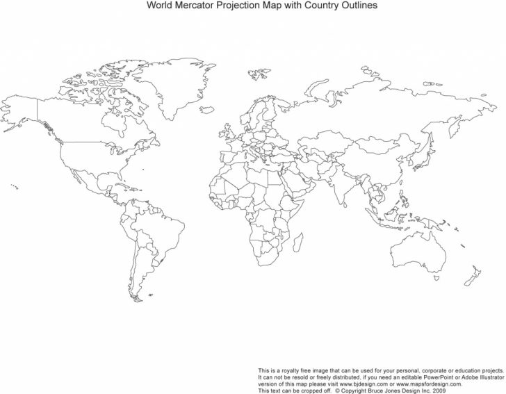 Blank World Map Countries Printable
