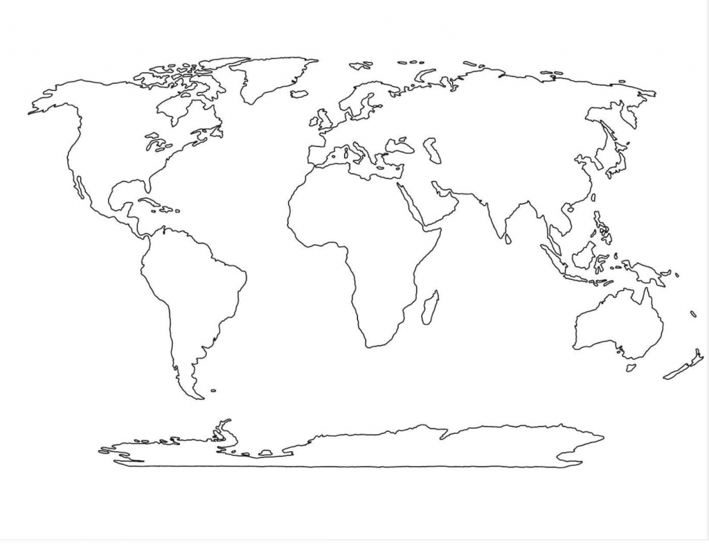 World Map Vector Template Copy World Political Map Outline Printable for Blackline World Map Printable Free