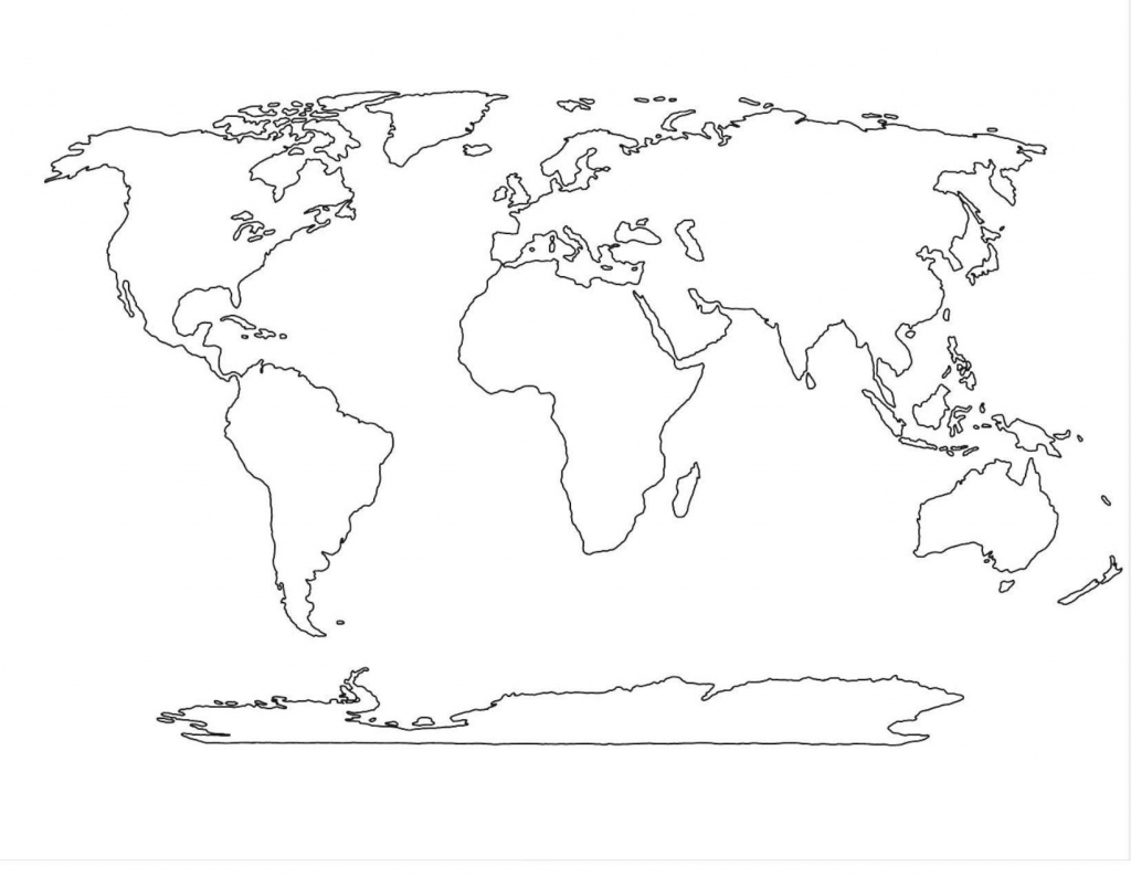 World Map Vector Template Copy World Political Map Outline Printable inside Free Printable Blank World Map