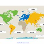 World Map With Continents   Free Powerpoint Templates With Regard To 7 Continents Map Printable