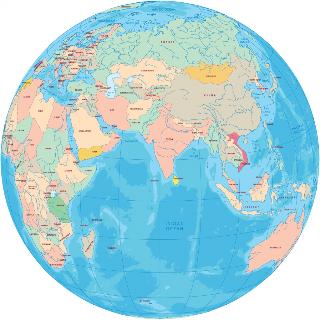 World Map With Continents - Topdjs for Printable World Map With Continents And Oceans Labeled