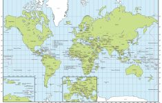 World Map With Cities Printable