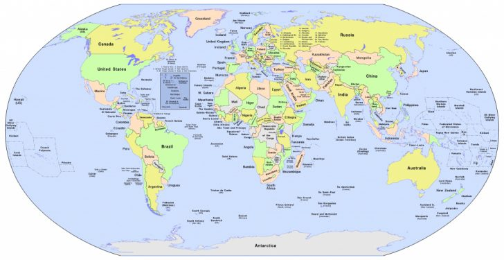 World Map Printable With Country Names
