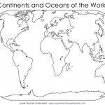 World Map Worksheet   Free Maps World Collection Regarding Printable Blank World Map For Kids