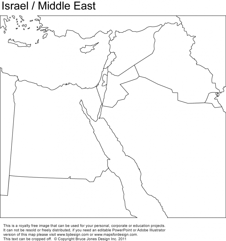 World Regional Printable, Blank Maps • Royalty Free, Jpg for Israel Outline Map Printable
