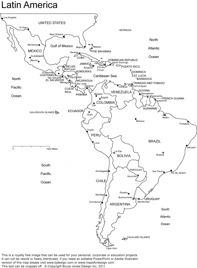 World Regional Printable, Blank Maps • Royalty Free, Jpg pertaining to Printable Map Of Central America