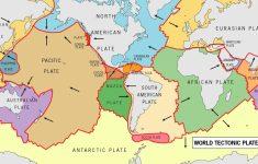 World Map Tectonic Plates Printable
